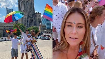 """Małgorzata Rozenek zabrała synów na Paradę Równości. W komentarzach zawrzało. """"Z tym maluszkiem w taki upał?!"""""""