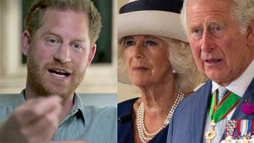 Książę Harry, księżna Camilla, książę Karol