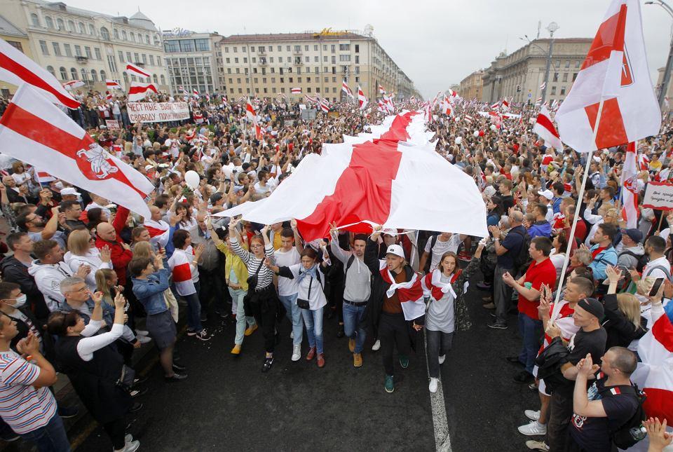 Protesty w Mińsku, Białoruś, 23 sierpnia 2020 r.