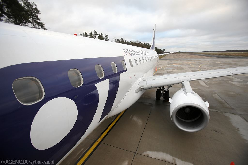 Samolot PLL LOT. Zdjęcie ilustracyjne