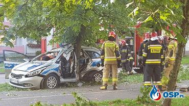 Świętochłowice. Poważny wypadek z udziałem radiowozu/ fot. OSP.pl