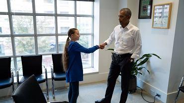 Greta Thunberg i Barack Obama