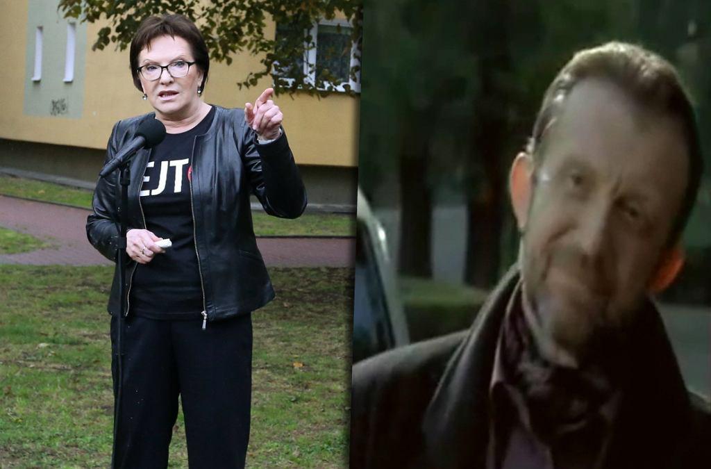 Ewa Kopacz i Edward Linde-Lubaszenko jako Krzysztof Jarzyna ze Szczecina