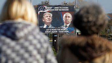Czarnogóra. Billboard z Donaldem Trumpem i Władimirem Putinem.
