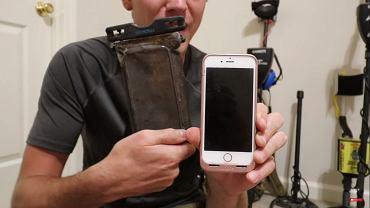 Wyłowił zatopionego iPhone'a po ponad roku - nuggetnoggin / YT