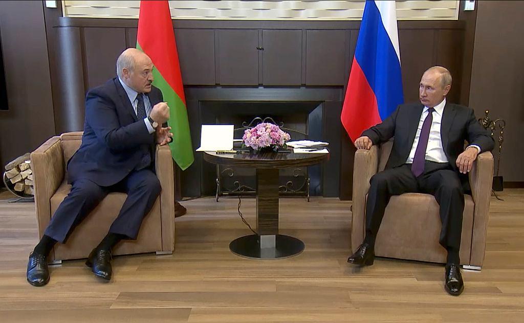 14.09.2020, Soczi, Rosja, spotkanie Aleksandra Łukaszenki z Władymirem Putinem.