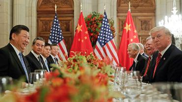 Xi Jinping i Donald Trump podczas spotkania na Szczycie G20, Buenos Aires1.12.2018.