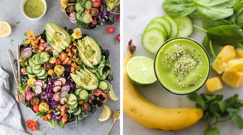 Regularne posiłki i dużo świeżych warzyw w menu gwarantują dobre samopoczucie.