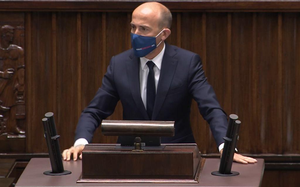 Przemówienie Borysa Budki w Sejmie, 11.08.2021.