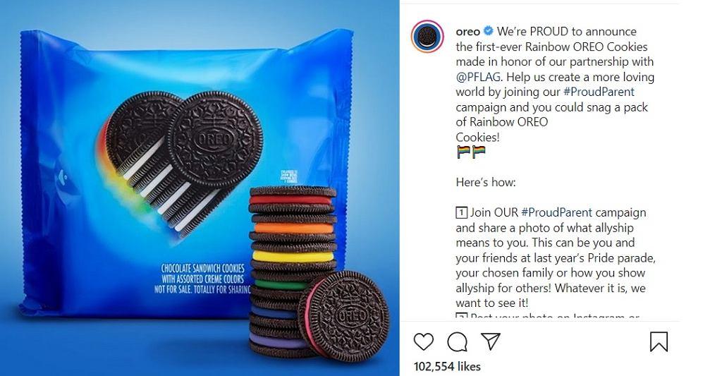 Limitowana edycja ciastek w kolorach tęczy: Przesłanie Oreo w sprawie LGBTQ+