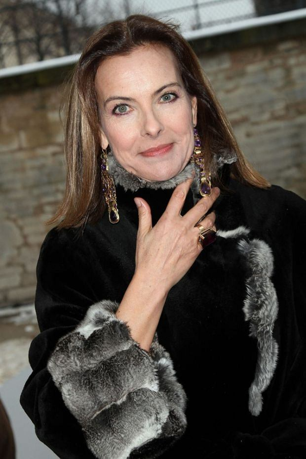 CAROLE BOUQUET - CELEBRITIES OUTSIDE ARRIVALS AT CHRISTIAN DIOR FASHION SHOW, COLLECTION HAUTE COUTURE SPRING-SUMMER 2013.
