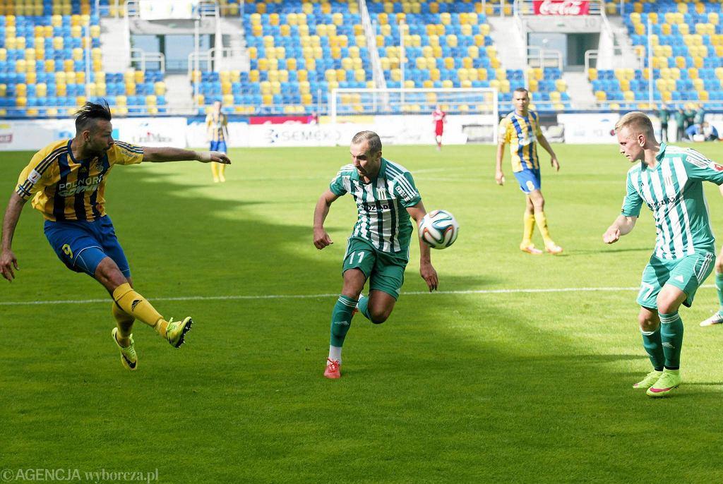 Arka Gdynia - Olimpia Grudziądz 0:2. Paweł Abbott