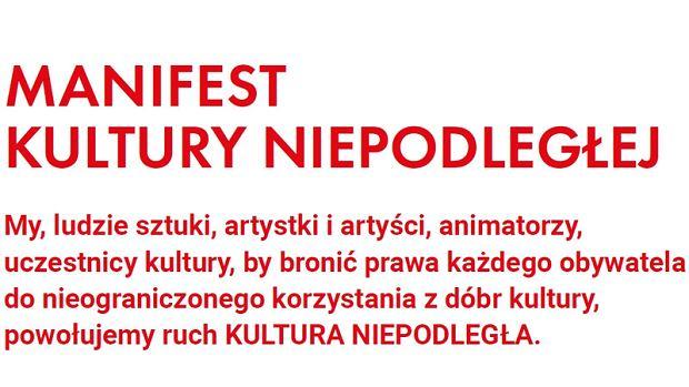 'Kultura Niepodległa': będziemy walczyć o polską kulturę