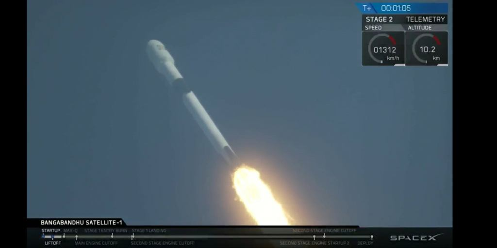 Udany start rakiety Falcon 9 'Block 5'