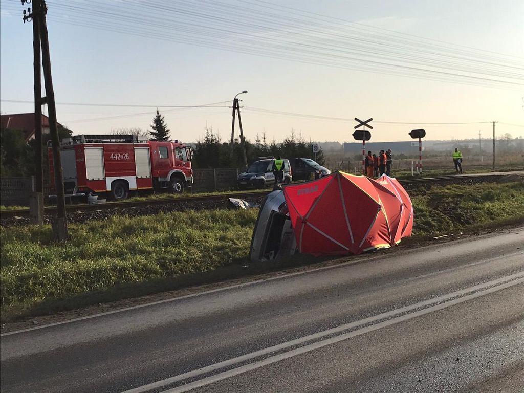 Miejsce wypadku, w którym zginął Janusz Dzięcioł