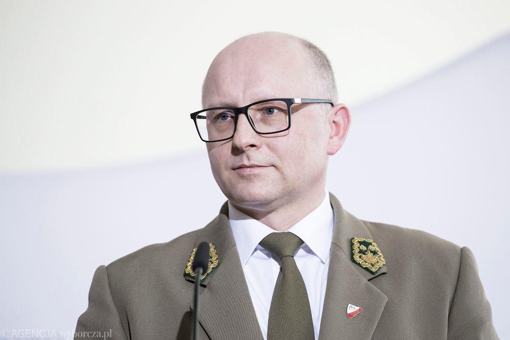 Dyrektor generalny Lasów Państwowych Andrzej Konieczny