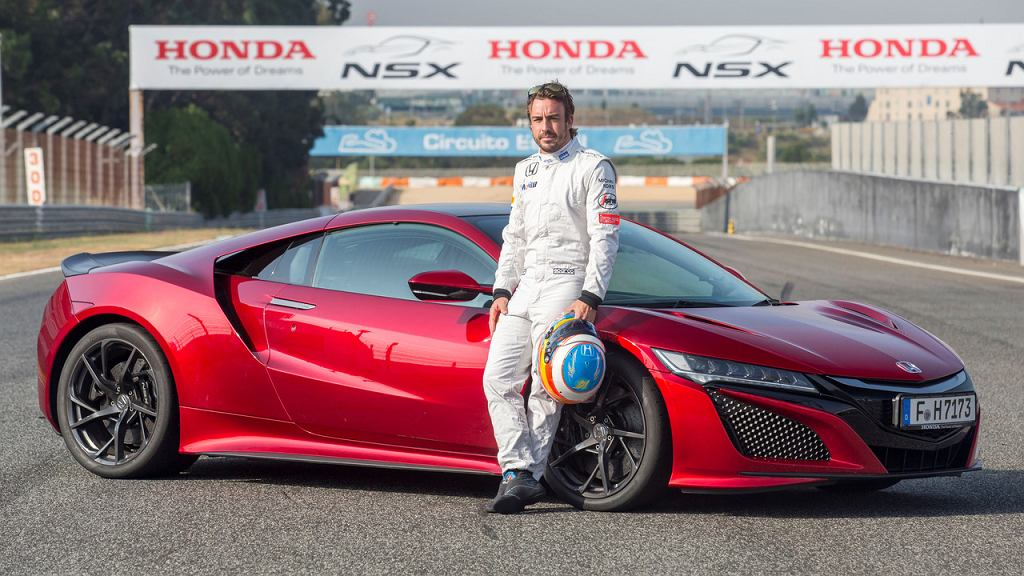 Honda NSX w rękach Fernando Alonso