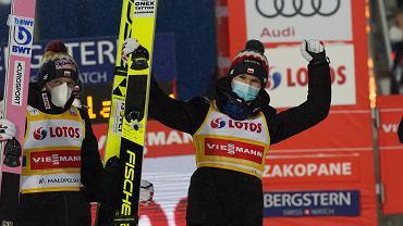 Andrzej Stękała podczas druzynowego konkursu skokow Pucharu Swiata w skokach narciarskich, Zakopane 16.01.2021