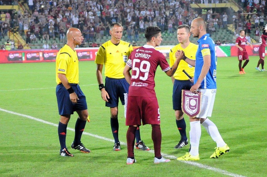 FK Sarajevo - Lech Poznań 0:2. Łukasz Trałka i Gojko Cimirot