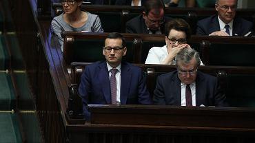Mateusz Morawiecki na posiedzeniu Sejmu