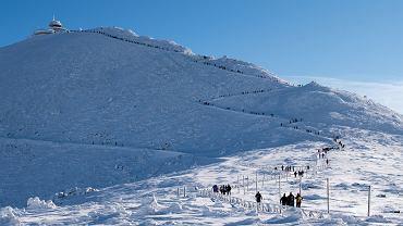 GOPR ewakuował kobietę ze szczytu Śnieżki. Morsowała przy minus 26 stopniach