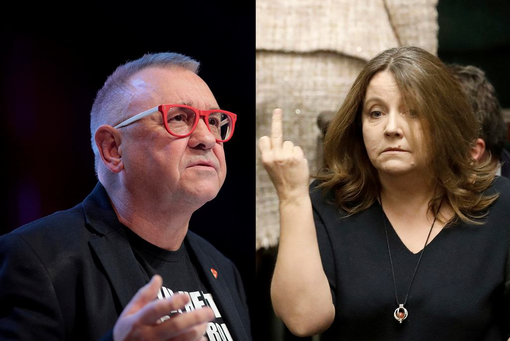 Jerzy Owsiak i posłanka Joanna Lichocka