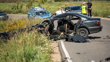 23.08.2018, śmiertelny wypadek w Bartągu koło Olsztyna.