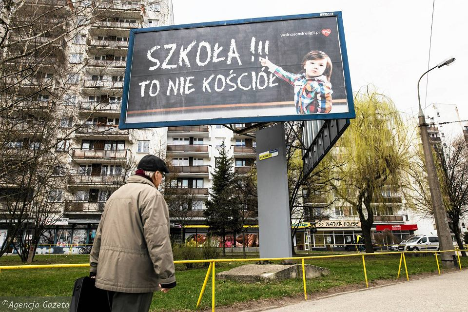 Lublin. Akcja billboardowa organizacji Wolność od religii