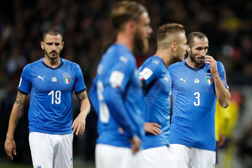 Szwecja - Włochy, eliminacje MŚ 2018. Leonardo Bonucci i Giorgio Chiellini
