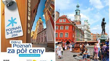 Poznań za pół ceny 3-4 maja 2014 już po raz siódmy / zdjęcie z lewej: Poznańska Organizacja Turystyczna, zdjęcia z prawej Shutterstock, kolaż Gazeta.pl