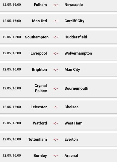 Niedzielne mecze w Premier League