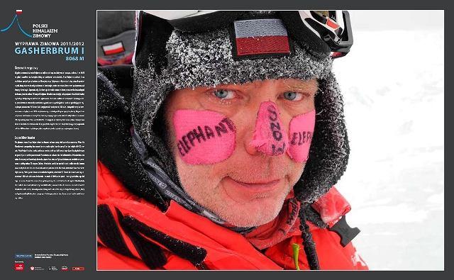 Artur Hajzer, kierownik zimowej wyprawy (2012 r.) na Gaszerbruma