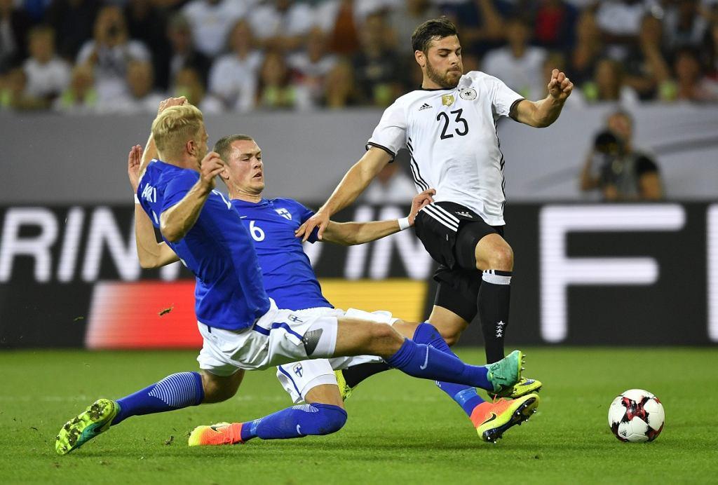 Niemcy - Finlandia 2:0 w meczu towarzyskim. Paulus Arajuuri z Lecha Poznań