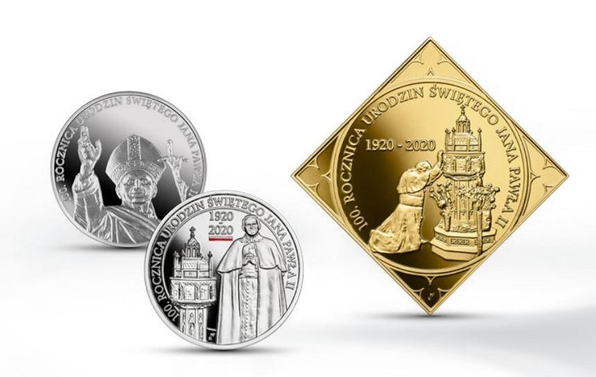 Monety z okazji urodzin JP II