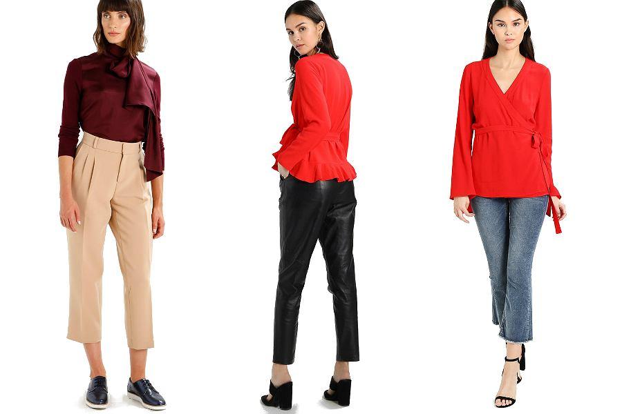 czerwone bluzki