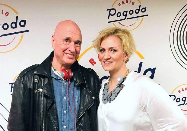 Cezary Harasimowicz i Anna Stachowska w studiu Radia Pogoda