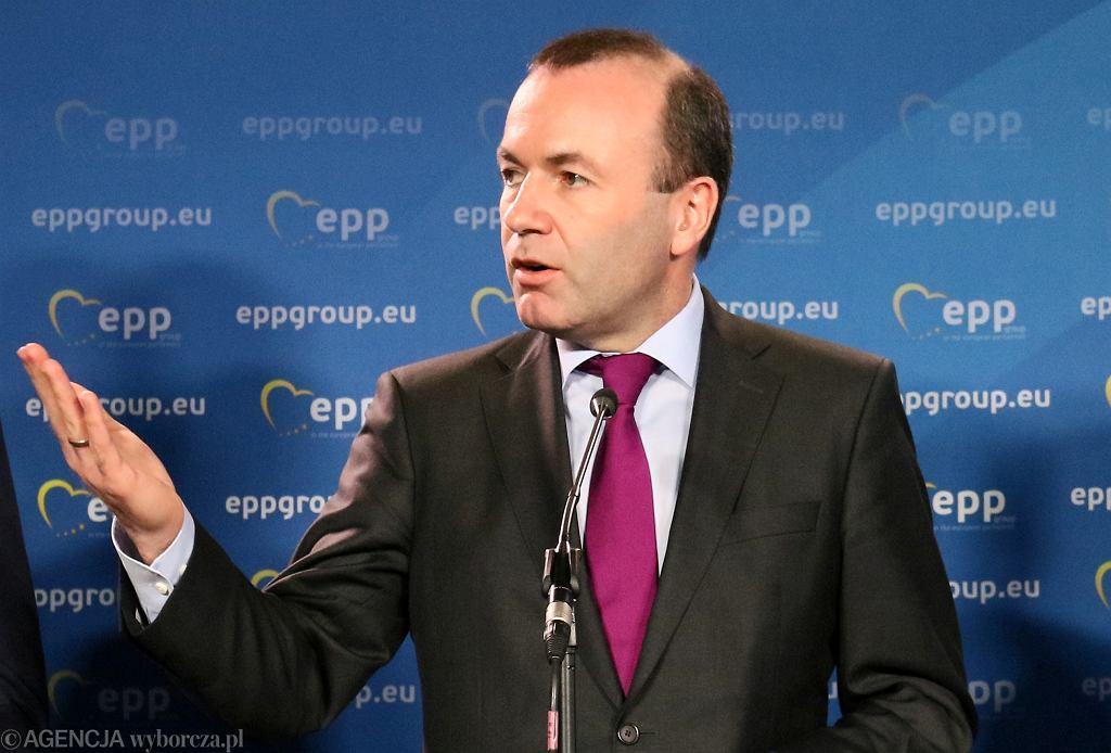 Manfred Weber na kongresie Europejskiej Partii Ludowej w Warszawie