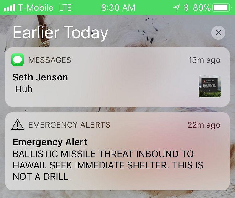 Alarm rakietowy na Hawajach