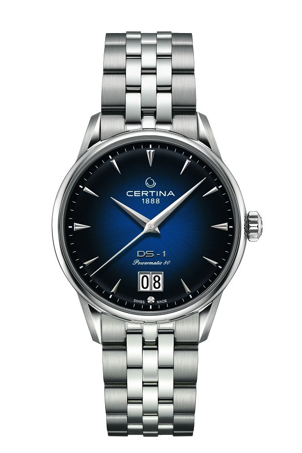 Certina DS-1 Big Date granatowa