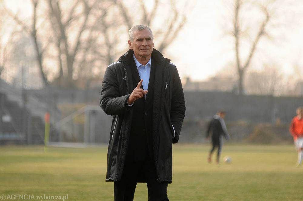 Trener Paweł Janas