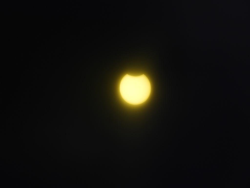 Zaćmienie Słońca widziane w Małkini Górnej.