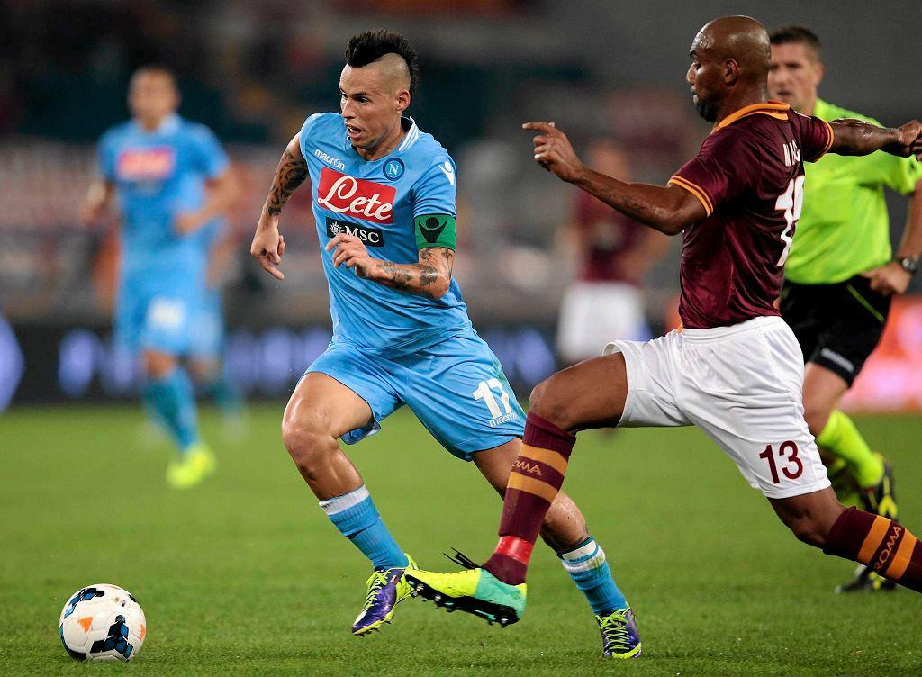 AS Roma - Napoli. Marek Hamsik i Maicon