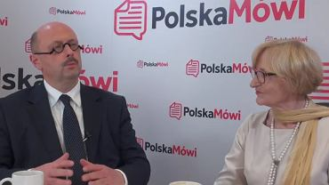 Mec. Stefan Hambura, przewodniczący Światowego Kongresu Polaków oraz Krystyna Krzekotowska, kandydatka ŚKP na prezydenta Warszawy