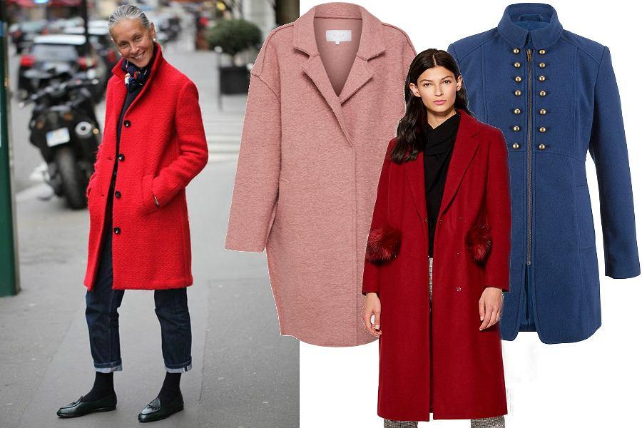 Kolorowe płaszcze na jesień dla dojrzałych kobiet
