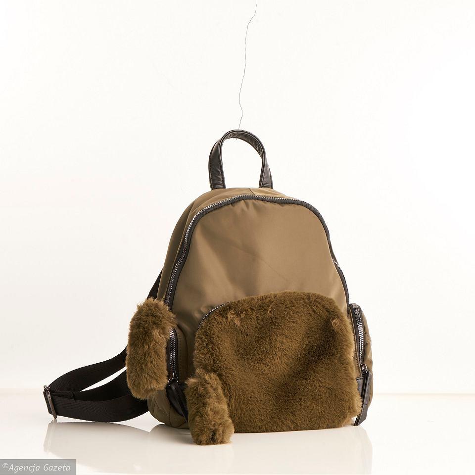 Plecak Luka by Jemioł z futerkiem zielony 159,99zł prom. 119,99zł Rossmann