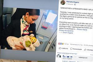 """W trakcie lotu stewardesa nakarmiła piersią obce dziecko. Jego matce zabrakło pokarmu. """"Zobaczyłam w jej oczach ulgę"""""""
