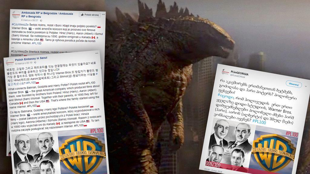 Polskie ambasady piszą o założycielach wytwórni Warner Bros