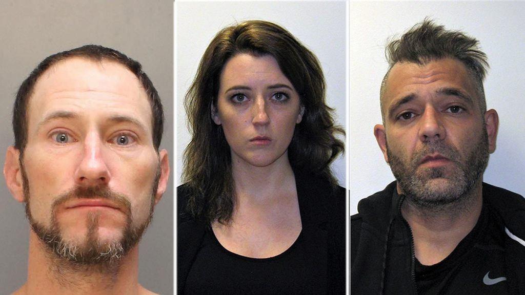 Podejrzani w sprawie oszustwa Johnny Bobbitt, Kate McClure i Marc D'Amico