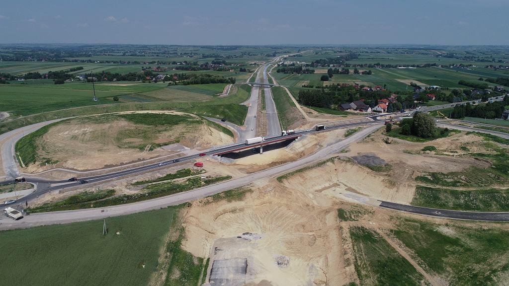 Powstający węzeł Widoma w ramach budowy S7