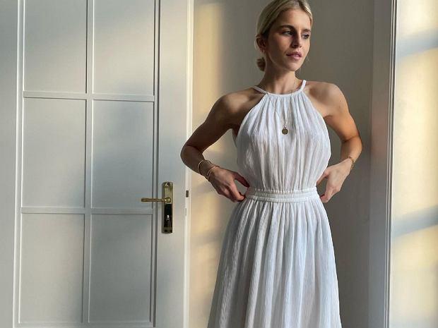 biała sukienka na lato Michael Kors